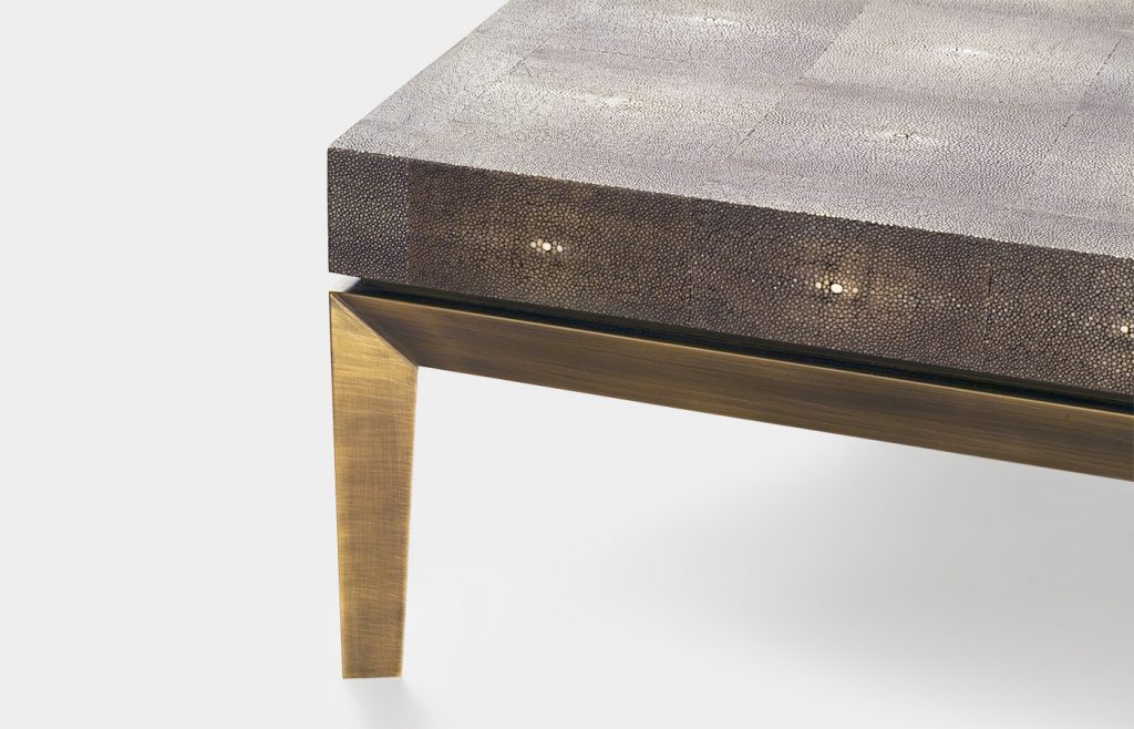 Cocktail table in galuchat 3